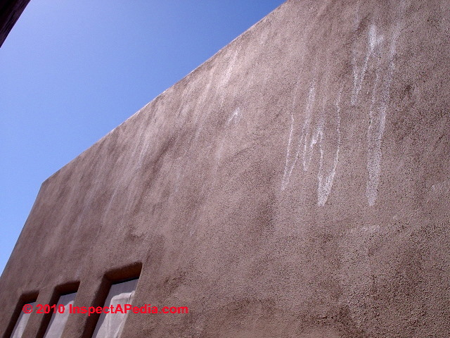 Stucco Wall Stains After Painting C Daniel Friedman