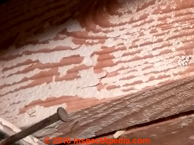 Flaky White Paint On Building Perimeter Framing Joists C Inspectapedia Lee