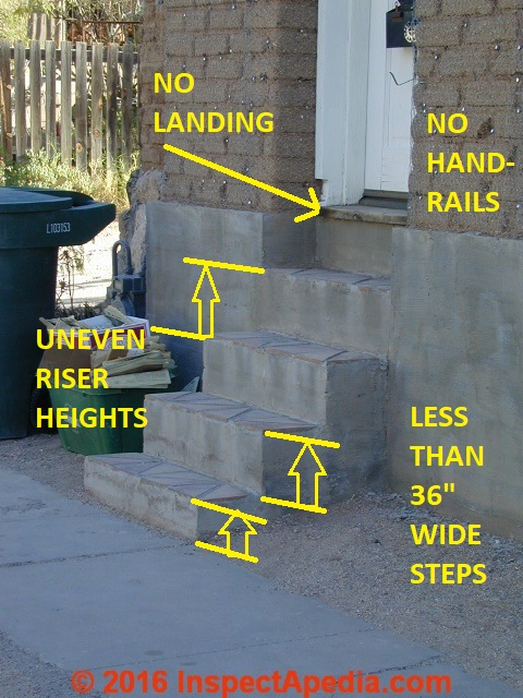 Unsafe Stairs Amp Steps Photos Of Stair Fall Hazards