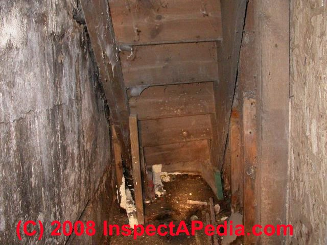 as our photos just above show these old basement stairs look worse