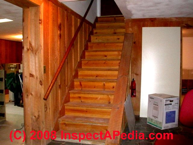 Beautiful Basement Stair With Open Side, No Rail (C) Daniel Friedman