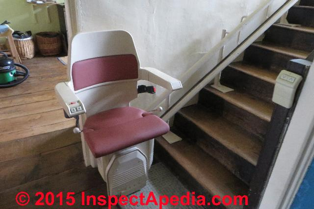 Stairway Chair Lifts Building codes, standards, dimensions, sources