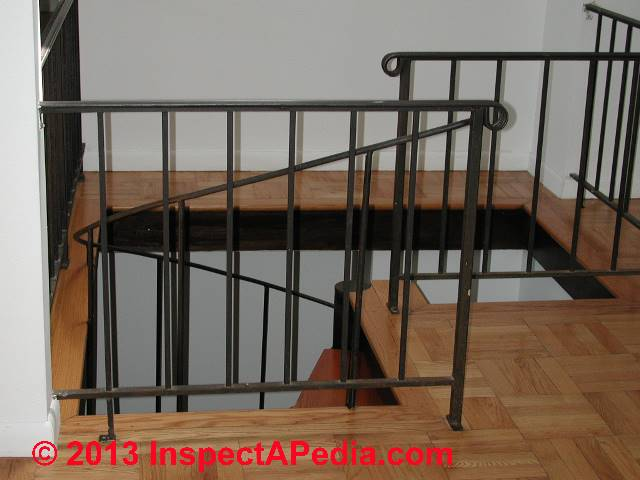 Railings guardrails stair rails handrailings codes for Definition for balcony