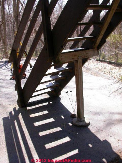 Stair Stringer Stair Tread Support Defects Hazards