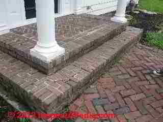 Loose brick exterior stairs (C) D Friedman