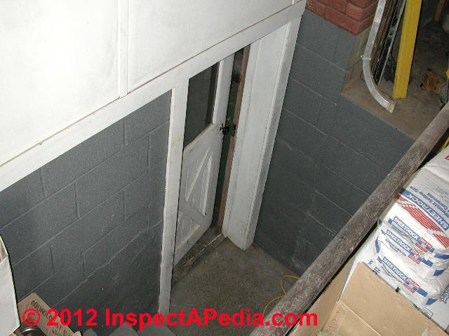 Basement walk-out covers & accessways Basement exit stair covers, construction, & safety