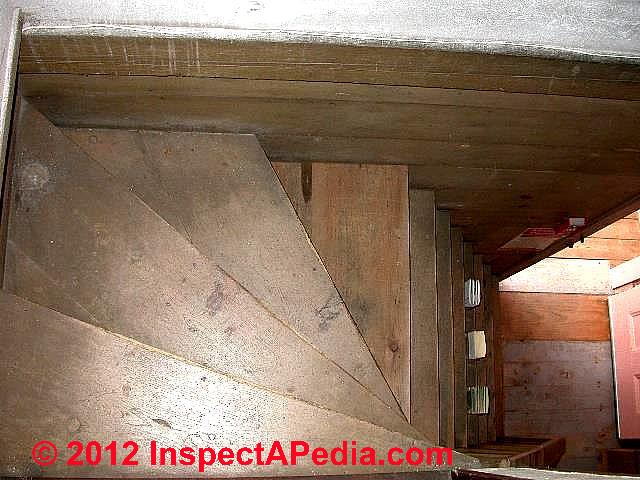 ... Narrow Turning Attic Access Stair (C) D Friedman
