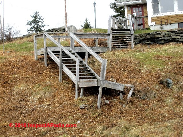 Exterior Stairways: Guide To Outdoor Stair, Railing, Landing Construction  Codes U0026 Hazard Inspection