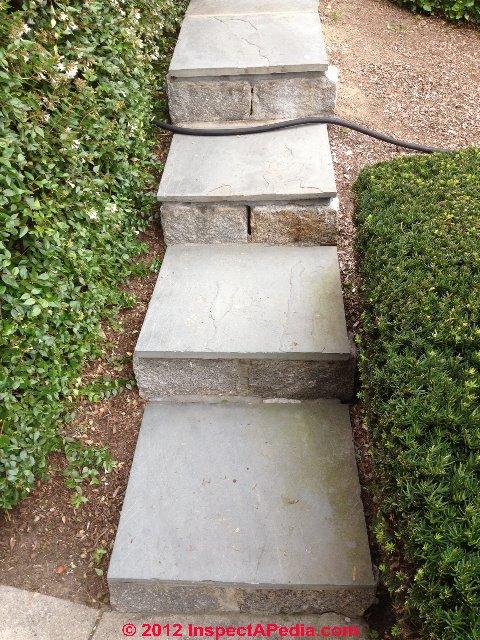 Sloped Narrow Exterior Stairs (C) InspectAPedia U0026 P.O.