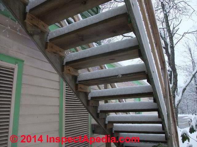 Exterior stair walk trip slip fall hazard photos text for Exterior stairs