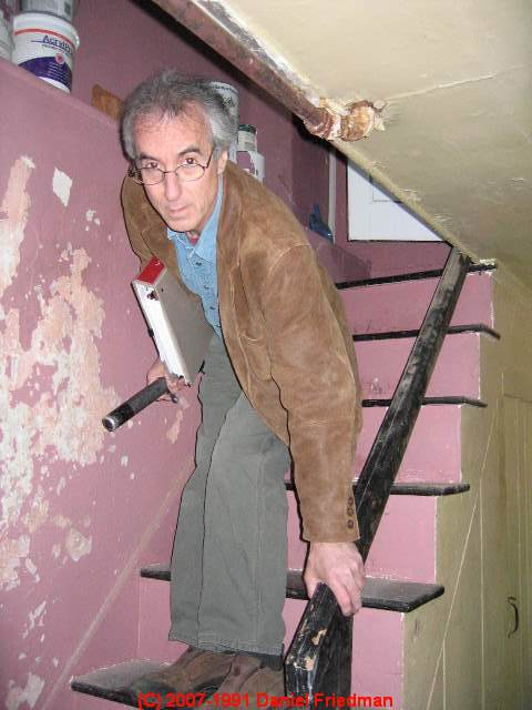 Wonderful Conventional Or Home Made Attic Or Basement Stairways. Photograph Of A Stair  Railing ...