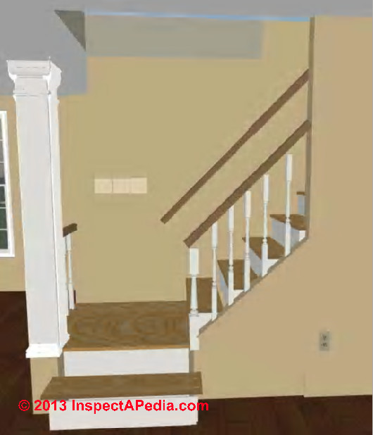 Stairway landings platforms codes construction First step to building a house