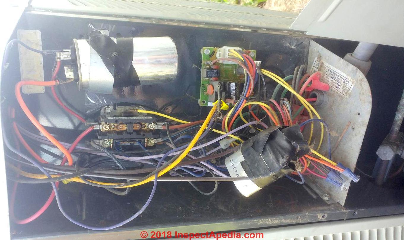 diagnosing a bad ac capacitor (c) inspectapedia com dale c