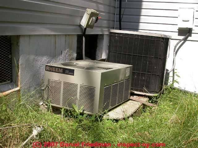 Clearance distances for air conditioner heat pump for Ac condenser pad installation