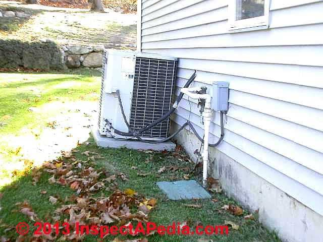 Clearance Distances for Air Conditioner / Heat Pump