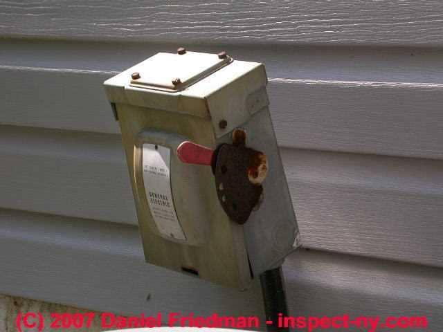 a c or heat pump compressor condenser disconnect switch. Black Bedroom Furniture Sets. Home Design Ideas