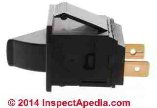 Carrier air handler blower door safety switch HR54Za006 - InspectApedia.com distributed by SupplyHouse.com