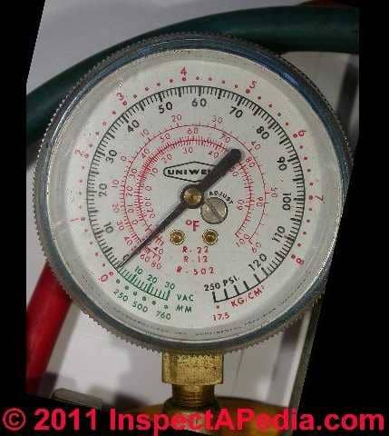 Refrigerant Gas Test Gauge: how to connect and use