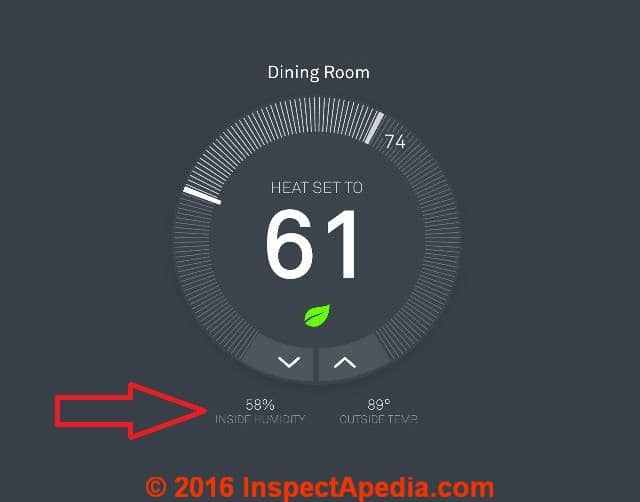 Accuracy of Nest Room Thermostat Humidity Indicator on