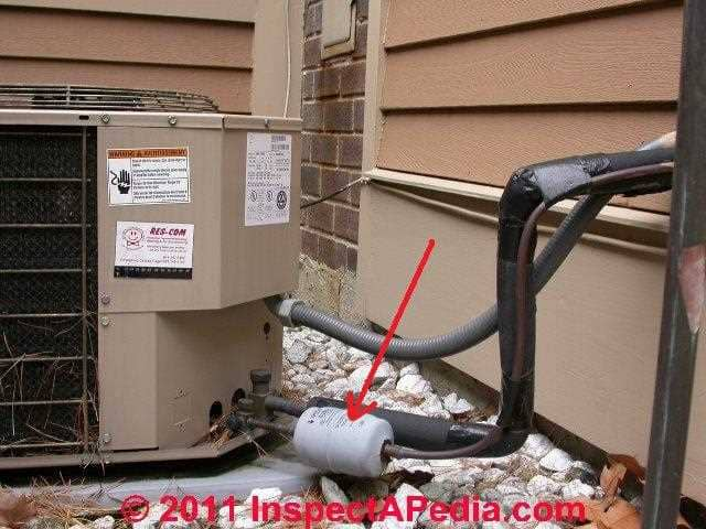 Refrigerant gas drier canister installation procedures for