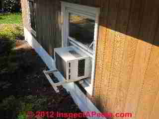 Window air conditioner unsupported (C) Daniel Friedman