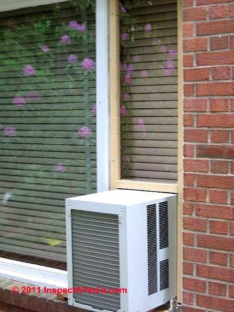 Casement Or Narrow Window Air Conditioner © D Friedman At InspectApedia.com