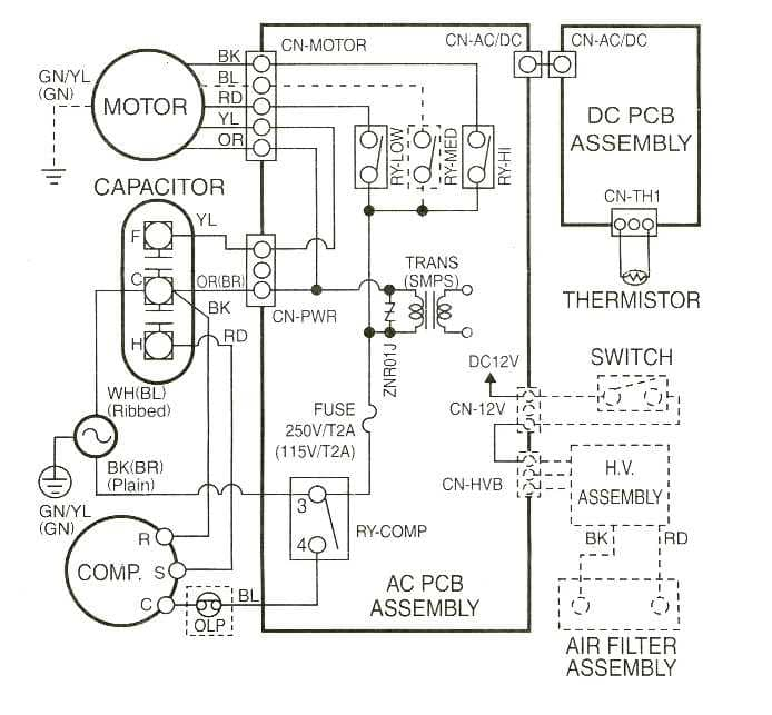 Sears_Window_580_Wirings singer condenser outdoor unit wiring diagram singer wirning diagrams electrical circuit diagram of air conditioner at crackthecode.co