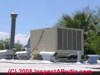 Photo of an evaporative cooler or sw& cooler in Tucson (C) Daniel Friedman & Rooftop HVAC Air Conditioning u0026 Heat Systems