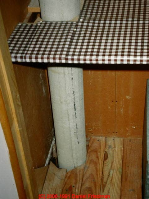 Chimney Construction Materials : How to recognize asbestos containing transite pipe in