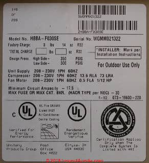 Goodman Ac Unit >> Air Conditioners: Air Conditioner Data: Air Conditioning & Heat Pump Data Tags De-Coded