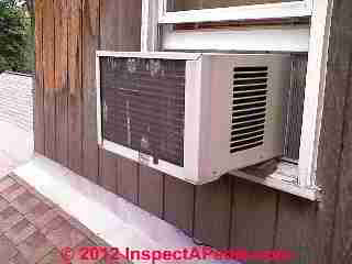 Window Air Conditioner that fell (C) Daniel  Friedman