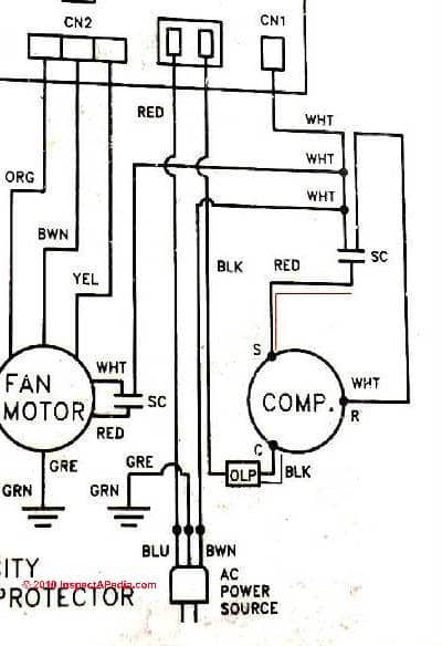 Wiring Diagram For Ac Unit Capacitor : Electric motor capacitor test procedures