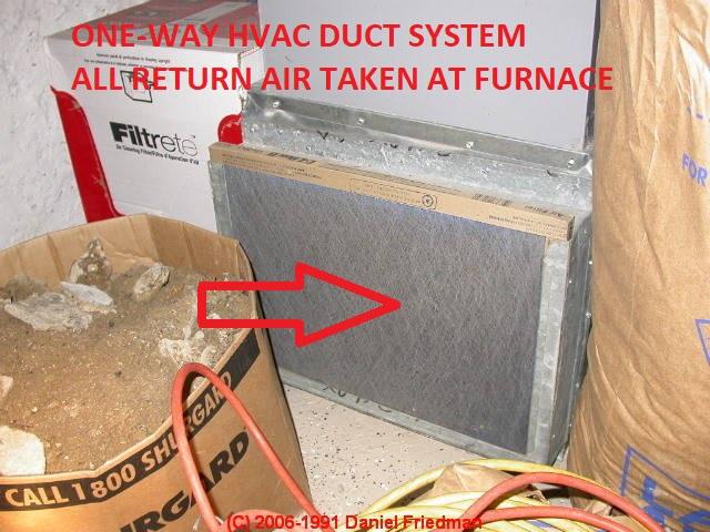 return air basement air handler no return air ducts all return air