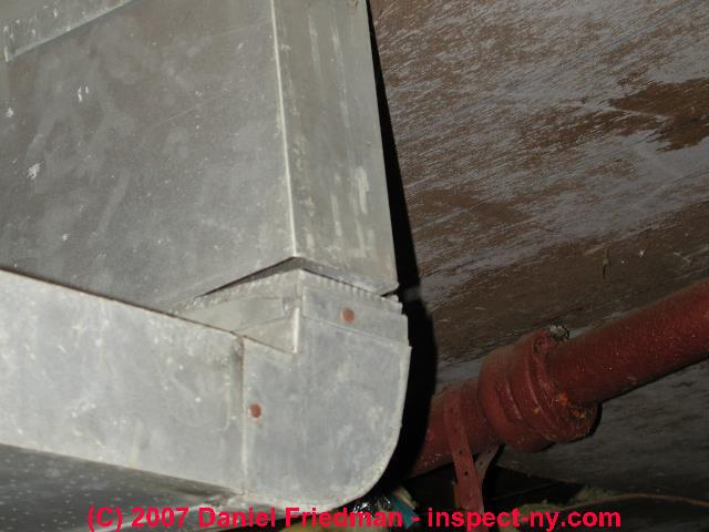 Air Duct Leaks Loose Or Leaky Air Duct Connections