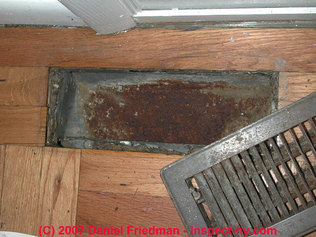 Air Conditioners Wet Or Corroded Heating Or Cooling Ducts