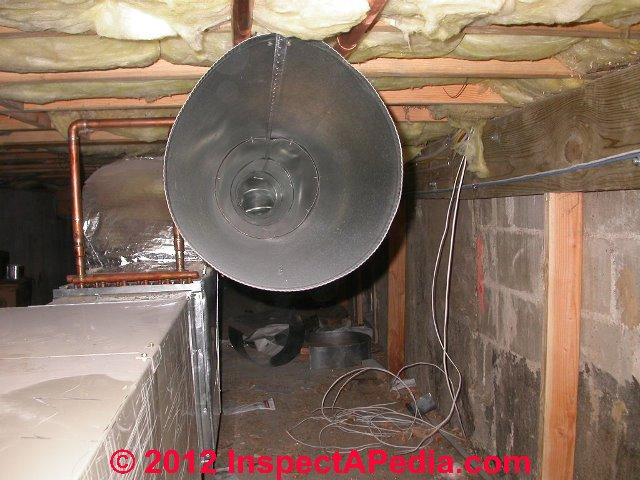 loose leaky or blocked air conditioning or heating ducts