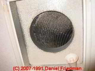 Photo of paint spray inside of hvac flex duct (C) Daniel Friedman