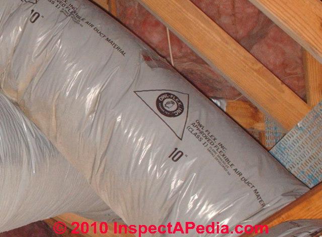 Air Conditioners Owl Flex Gray Flex Duct Deterioration