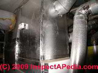 Rigid fiberglass HVAC duct board air handler (C) Daniel Friedman