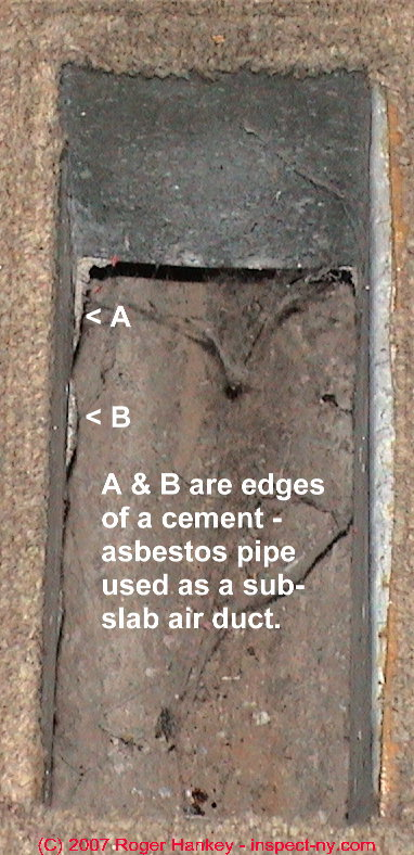Asbestos In Air : Hvac ducts routed in floor slabs problems hazards