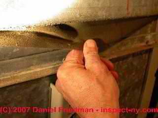 Photograph of the vibration damper of an air conditioning and heating air handler blower unit