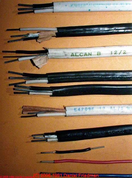 history of old electrical wiring identification photo guide rh inspectapedia com types of electrical wires and their uses types of electrical wires sizing trinidad