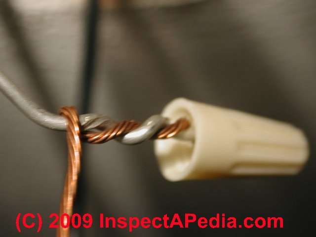 how to recognize aluminum electrical wiring in buildings rh inspectapedia com Replacing Aluminum House Wiring Single Strand Aluminum Wiring