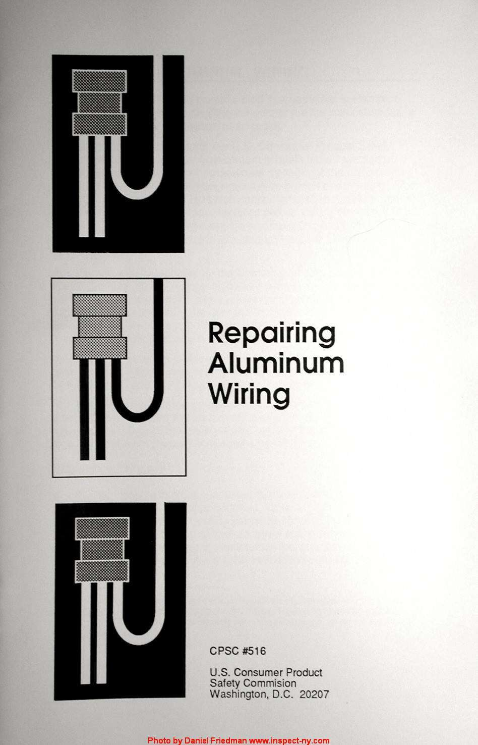 repairing aluminum wiring cpsc 516 us consumer product safety rh inspectapedia com Knob and Tube Wiring cpsc safety recommendations for aluminum wiring in homes