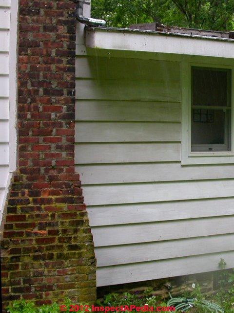 chimney shoulder  u0026 side leaks  u0026 damage