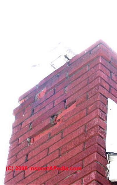 Spalling Brick Or Block Chimney Surfaces Inspection