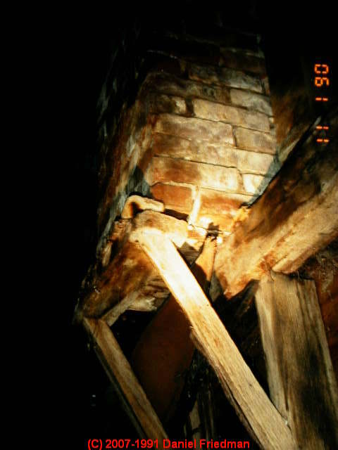 Bracket Chimneys Collapse Hazards In Buildings