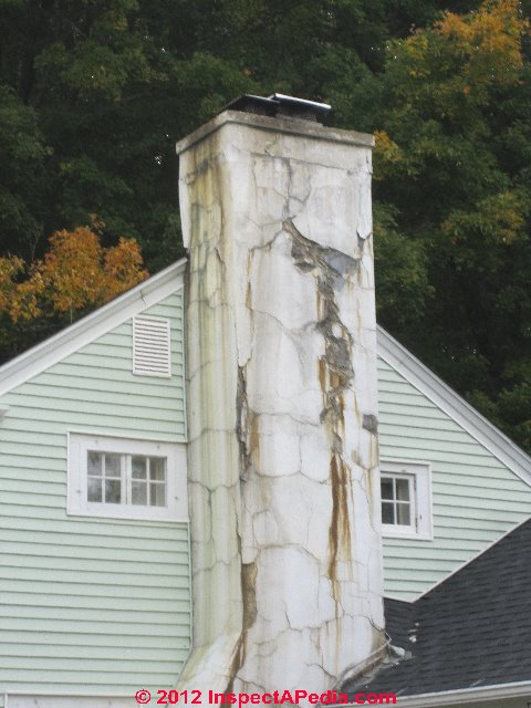 Concrete Chimney Blocks : Cracked concrete block chimneys diagnosis repair guide