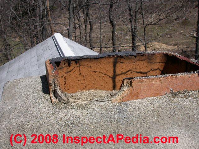 Damaged clay flue tile (C) Daniel Friedman ... - Chimney Top And Clay Tile Flue Liner Repair Guide