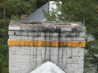 Chimney Stains Discoloration Leak Diagnosis Cleaning